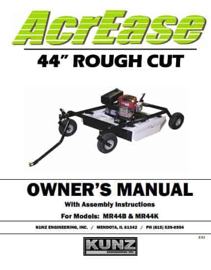 44 rough cut manual 2011