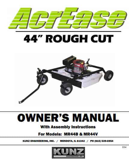 44 inch rough cut owner's manual 2014