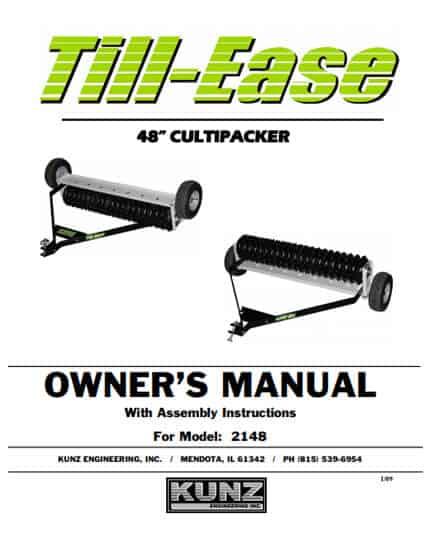 Till-Ease 48'' Cultipacker Model 2148-Manual