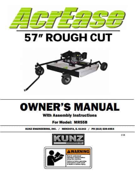 AcrEase Rough Cut Mower Owner Manual MR55B