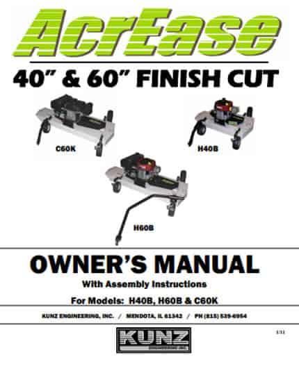 Finish Mower Manual 2011