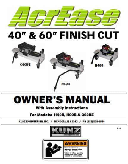 Finish Mower Manual 2018 Models H40B, H60B, C60BE