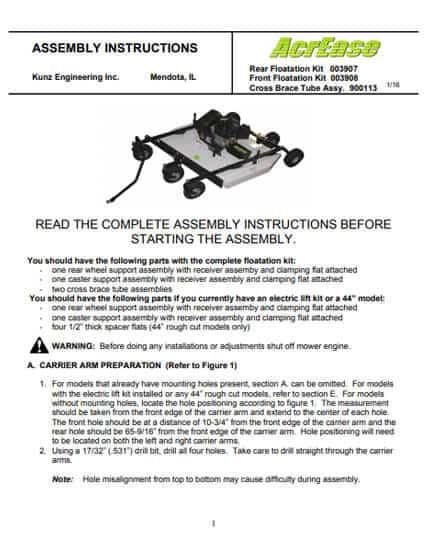 Rough floatkit manual