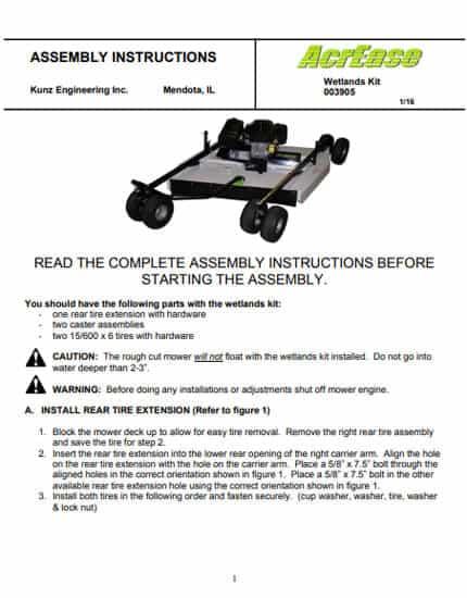 Wetlands Kit Owners Manual 2016 model